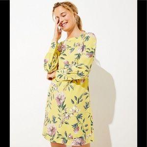 Loft Floral Boatneck Shift Dress